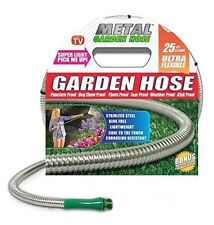 Garden Hose 25' Stainless Steel Metal - As Seen On TV - US Free Shipping