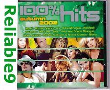 Superjesus+IIO+Janet Jackson+Jewel+Dannii- 100% Hits Autumn 2002 CD -Warner AUS