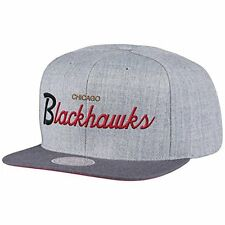 Mitchell & Ness NHL Chicago BlackHawks Tri Pop Script Gray Snapback Cap Hat