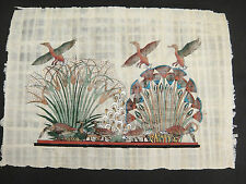 Egyptian Papyrus Paper Painting of Birds Geese Water Fowl Reeds