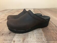 Dansko Women's Sonja Antique Oiled Brown/Black Nursing Clog Size 38 / 247780202