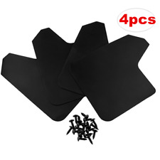 Set Of 4 Moulded Universal Fit Mud Flap Mudflaps Front or Rear Universal Black