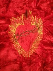 Embroidered The Sacred Heart of Jesus 7in