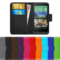 Premium Luxury Leather Flip Wallet Book Case Cover For HTC Desire 510