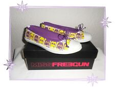 Baskets Bas Ballerines Imprimées Violet et Jaune  Freegun Backslide Pointure 37