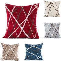 42*42cm Home Decor Soft Chenille Geometric Sofa Throw Cushion Cover Pilow Case