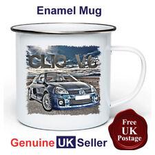 Renault Clio V6 Mug,11oz Enamel Renault Clio V6 Camping Mug, Enamel Cup