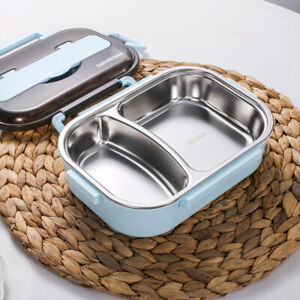 Portable 304 Stainless Steel Lunch Box Compartment Bento Box Food ContainerA --