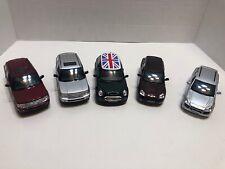 Lot Of 5 NEW Mini Cooper Porsche Range Rover Diecast Cars 1:28 1:38 KINSMART
