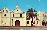 Postcard Old Plaza Mission Los Angeles California