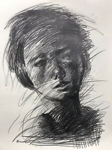 Pencil On Paper  Drawing- Original Fine Art- By Osmel Almora-Signed 20x16