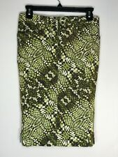 JUST CAVALLI green alligator pencil skirt, US size small, Italy size 38