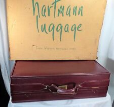 Hartmann luggage vintage belted Train leather case suit case oxblood