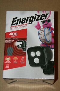 49061 Energizer 400-Lumen 8.4-Watt Black Battery-operated LED Spot Light Motion