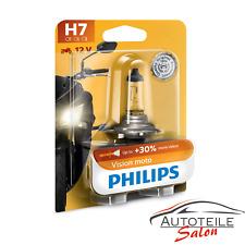 Philips H7 Vision Moto 12972PRBW + 30% 12V 55W Halogen Motorrad Vibrationsfest