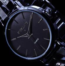 Excellanc Damen Armband Frauen Uhr Schwarz Strass GE003