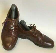 CLARKS Brown Leather Oxford Shoes Mens UK 7.5 Extra Wide