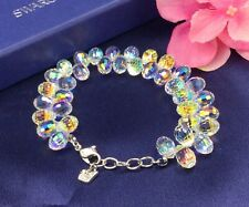 AUTHENTIC SWAN SIGNED SWAROVSKI AURORA BOREALIS BEADED BRACELET RARE COLLECTABLE