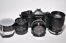 Nikon Nikkormat FT2 35mm SLR Film Camera with Lenses