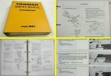 Yanmar B37 Excavator Service Manual Maintenance Werkstatthandbuch in englisch
