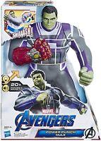 Marvel Avengers Hero Power Punch Hulk 20+ phrases light up punch and sound-New