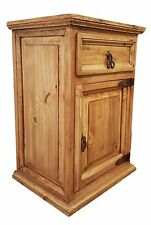 Traditional Rustic Nightstand with 1 Door and 1 Drawer Right Side