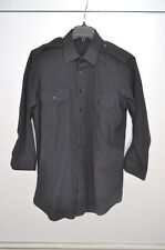 CANADIAN FORCES MILITARY POLICE SHIRT BLACK MEN'S 16/32 ORIGINAL!