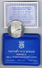 1973 Israel Independence Day 25th Anniversary Proof Coin 26g Silver+Orignal Case
