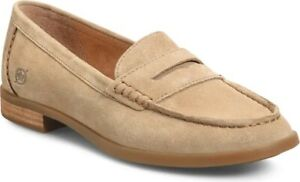 Børn- Bly Penny Loafer- Women's Size 8- Color: Taupe Suede- Brand New!!