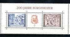 Autriche 1976 Bloc 3 menthe 200 Années Burgtheater dans Vienne BR145