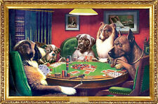 Coolidge Dogs Playing Poker Poster Print, 24x36