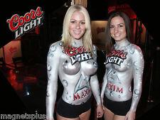 COORS LIGHT MAXIM GIRLS 4 BEER FRIDGE MAN CAVE LOCKER TOOL BOX MAGNET