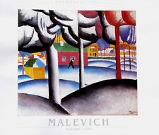 Kazimir Malevich 24x32 Print LANDSCAPE 1909 Russian Suprematism Art Poster
