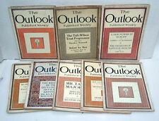 Lote de 8-1911/1912 Outlook Magazine-Many con Osito Roosevelt Artículos