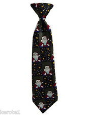 Father Christmas Tie, Child size With Elastic band, Preknoted, Fourth Free