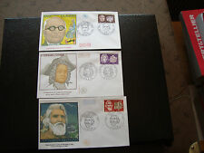 FRANCE- 3 enveloppes 1er jour 1968 (couperin/claudel/st-pol-roux) (cy83) french