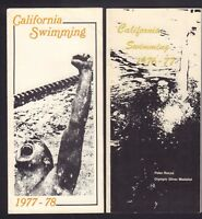 1967-77 1977-78 California Swimming Peter Rocca Brochures 101717jh
