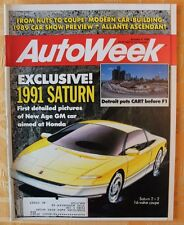 AutoWeek January 9 1989 1991 Saturn 2+2 Lamborghini Diablo Targa 1964 Amphicar