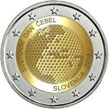 """2 Euro Gedenkmünze SLOWENIEN 2018 """"Weltbienentag""""  Unz."""