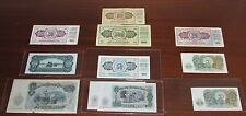 Sweet Lot of (11) Yugoslavia and 1951 Bulgaria Notes--5 Are UNCIRCULATED!