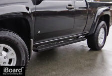 """Side Steps Nerf Bars 4"""" Black Fit 04-12 Chevy/GMC Colorado/Canyon Extended Cab"""