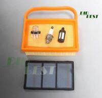 Luftfilter Satz + Zündkerzen Primer Pumpe für Stihl TS410 TS420 Trennschleifer