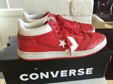 CONVERSE All Star Chuck Taylor Low mid Top Trainers Red leather mix uk10 eu 44