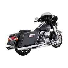 Vance & Hines Twin Slash Ronde Slip-Ons Chrome F.Harley-Davidson Touring 95-16