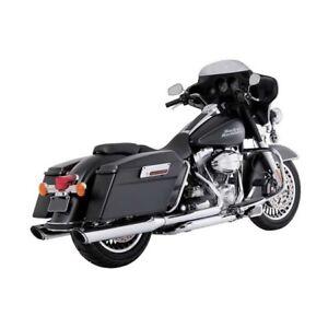 Vance & Hines Twin Slash Round Slip-Ons Chrom f. Harley-Davidson Touring 95-16