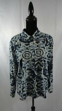 Women's Long Sleeve Blouse Collective Concepts Blue Sheer Size L Large NWT!!