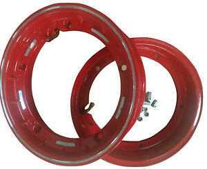 NEW VESPA 10 INCH TUBELESS RIMS X 2 PX LML T5 RED NEW ALLOY PAIR
