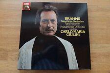 BRAHMS compl. Symphonies Philharmonia GIULINI 4LP box EMI 197-53 776/79