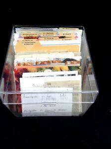 Large Acrylic recipe box full clipped written recipes