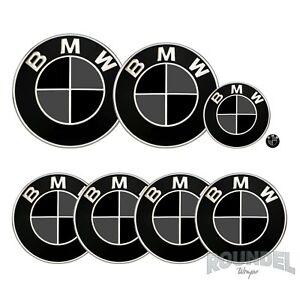 For BMW Badges - Matte Black & Dark Grey - All Models Decals Wrap Stickers